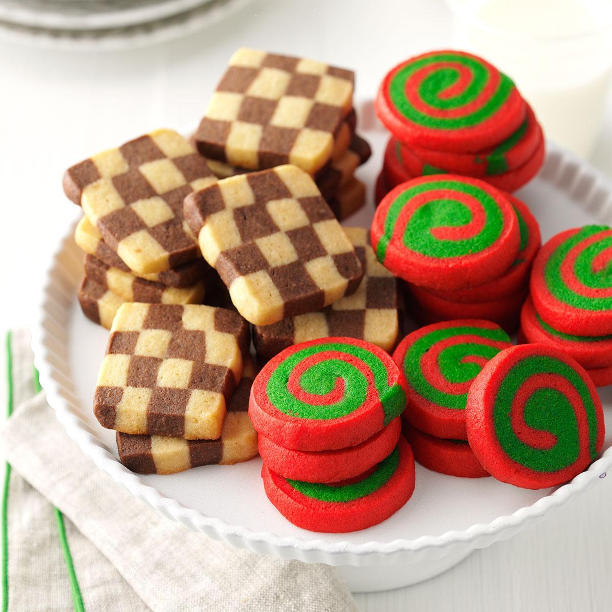 Christmas Pinwheel Sugar Cookies  Pinwheels and Checkerboards Recipe