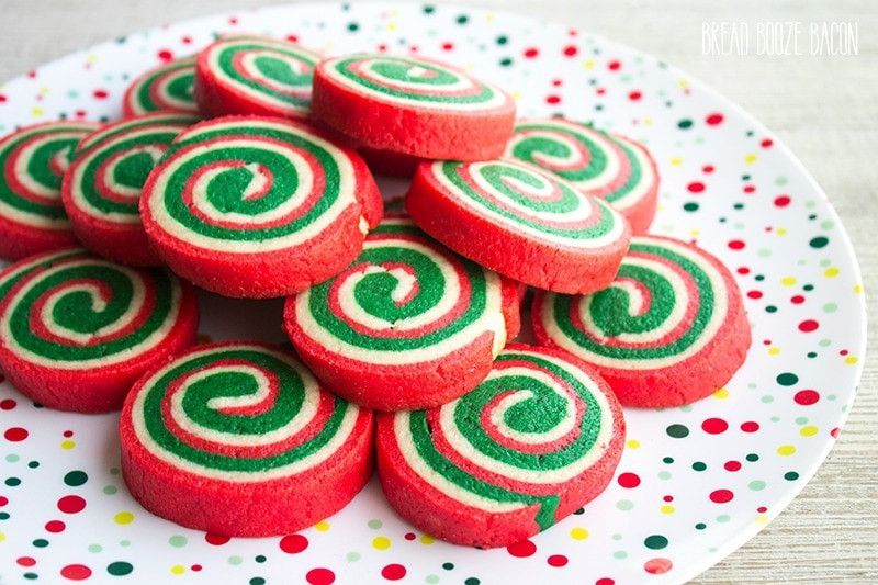 Christmas Pinwheel Sugar Cookies  Christmas Cookie Pinwheels Yellow Bliss Road
