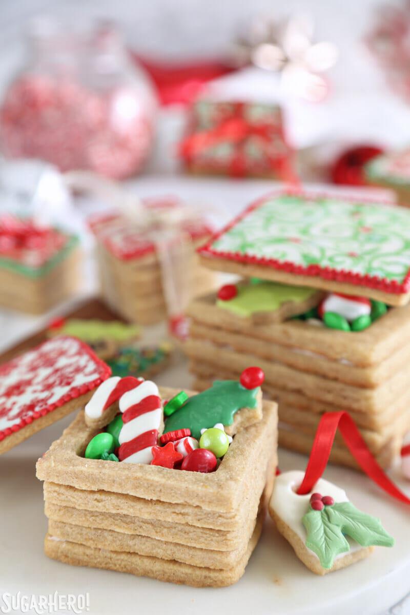 Christmas Present Cookies  Christmas Present Cookie Boxes SugarHero