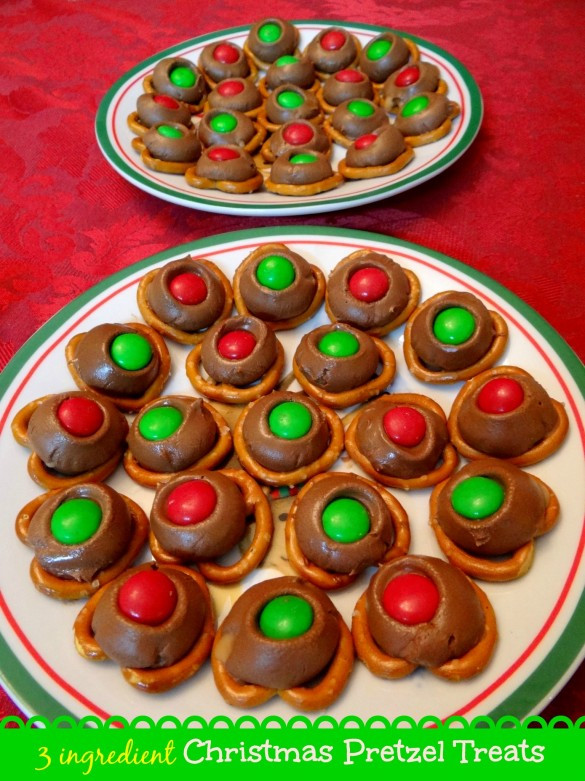 Christmas Pretzels Recipes  3 ingre nt Christmas Pretzel Treats Recipe Mommy