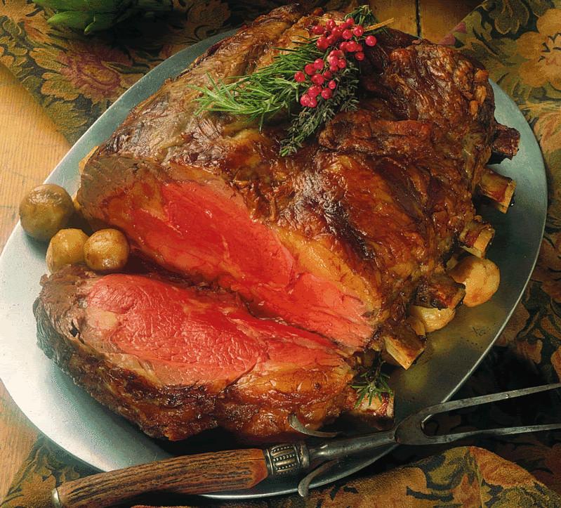 Christmas Prime Rib Dinner  Holiday Recipes Horseradish Crusted Prime Rib of Beef