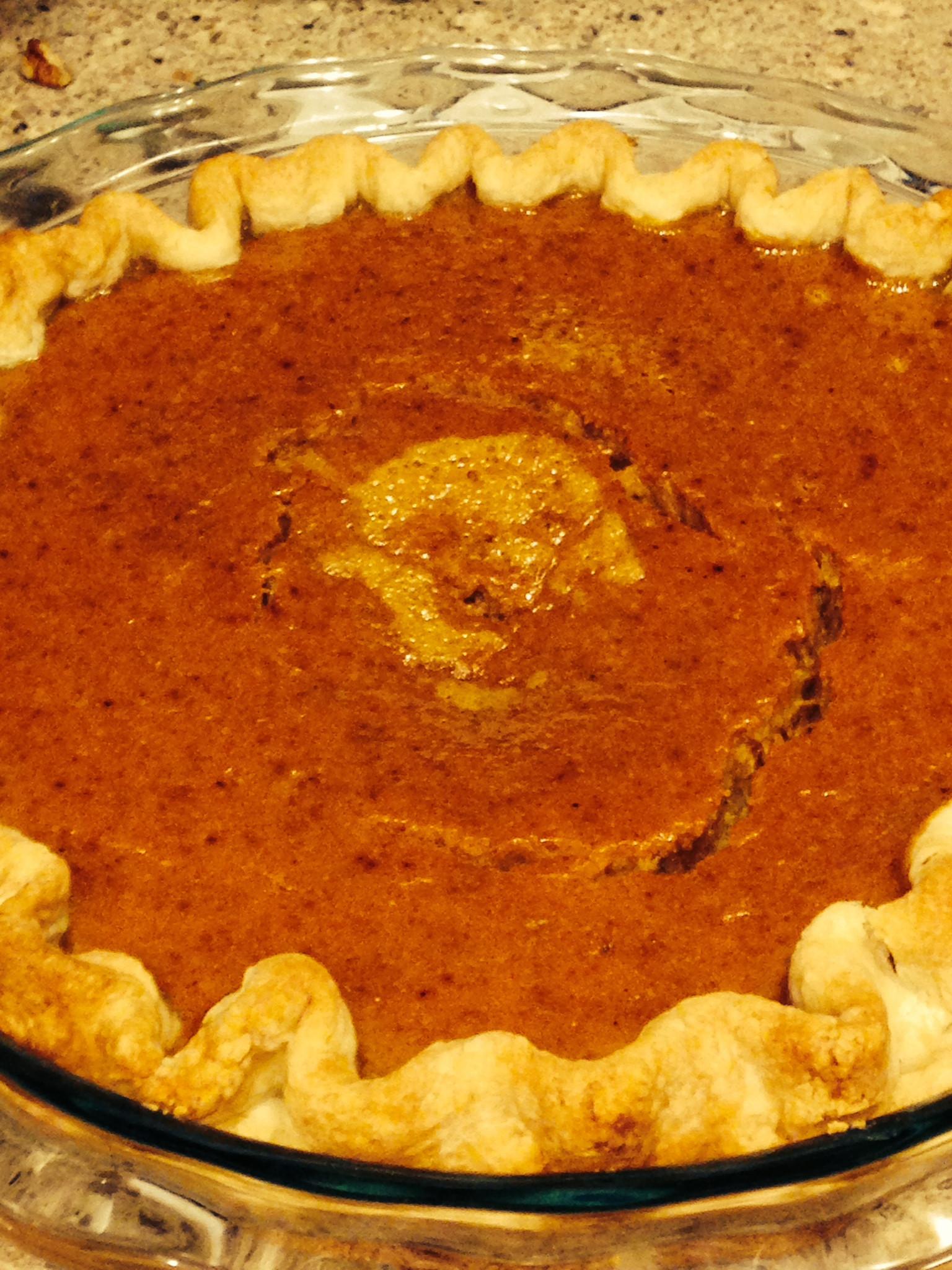 Christmas Pumpkin Pie  niftynora