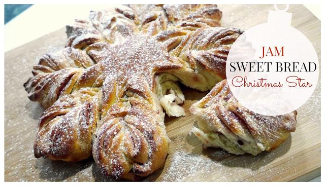 Christmas Star Bread  StyleNovice Jam Sweet Bread Christmas Star Recipe