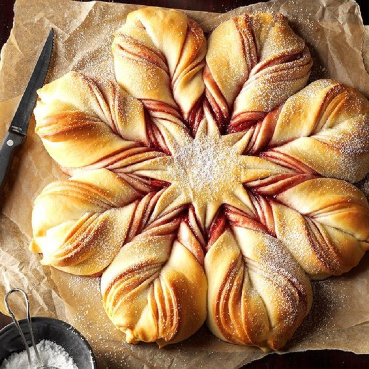 Christmas Star Bread  18 Red and Green Christmas Appetizers for a Real Holiday