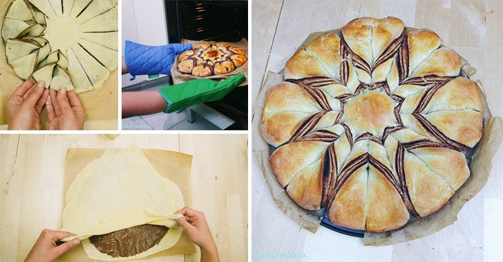 Christmas Star Bread  How to Make Braided Nutella Star Bread Cooking Handimania