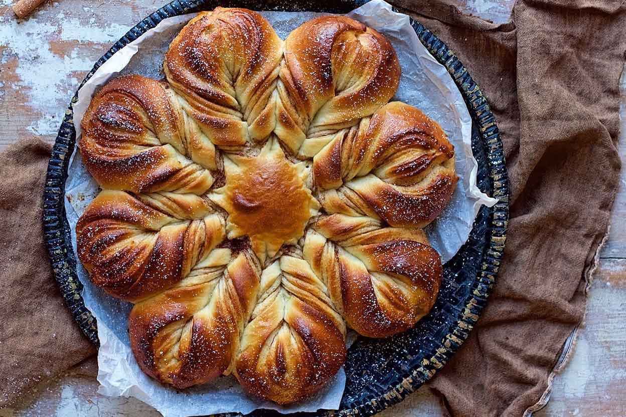 Christmas Star Bread  Cinnamon Star Bread Recipe