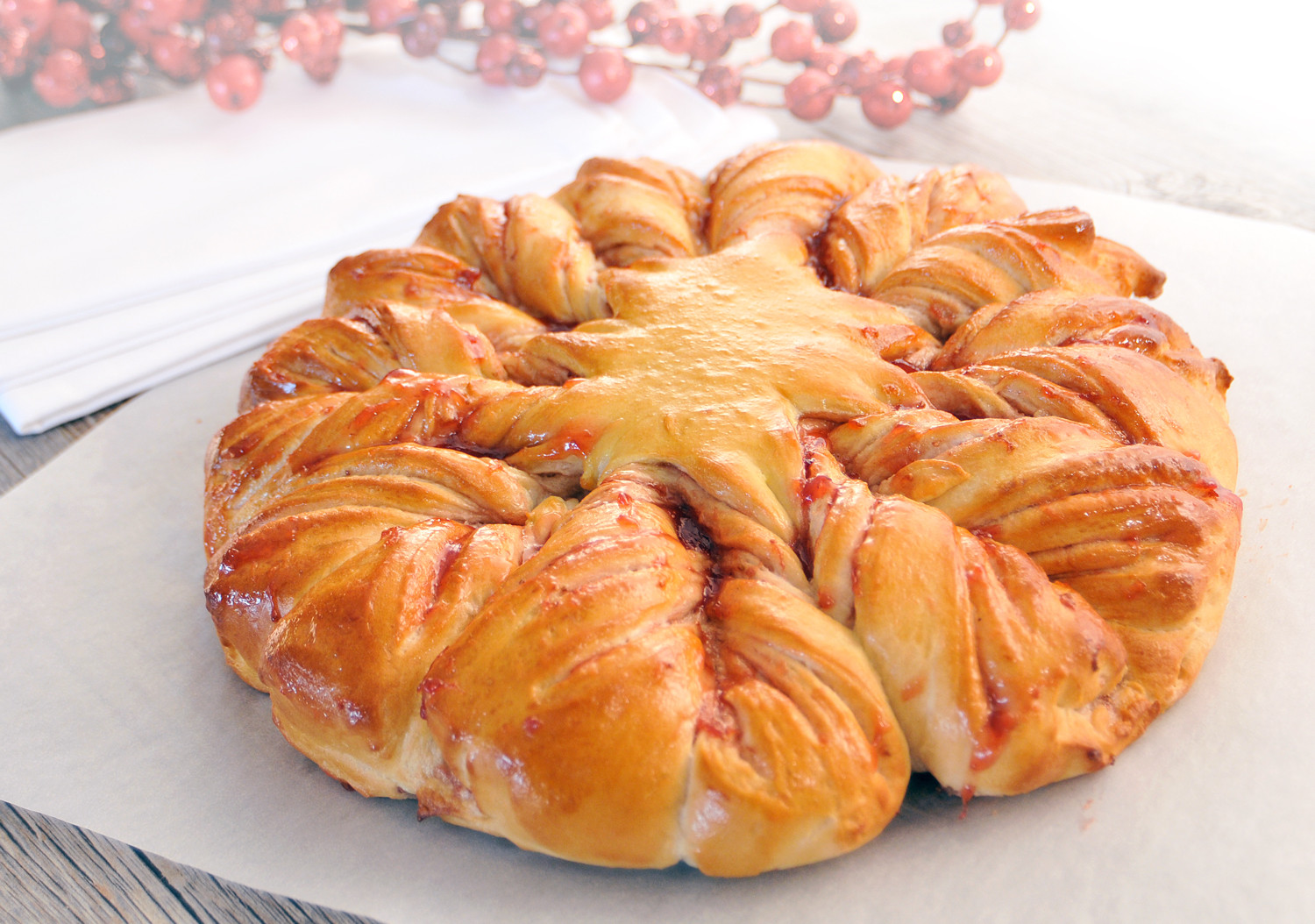 Christmas Star Bread  Bread and Roll Dough Recipes Bread and Roll Dough