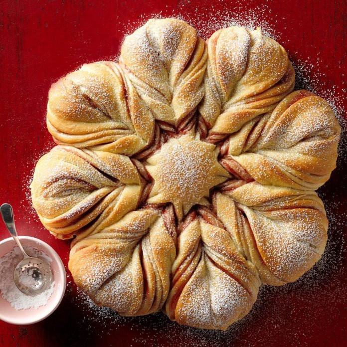 Christmas Star Bread  Christmas Star Twisted Bread Recipe