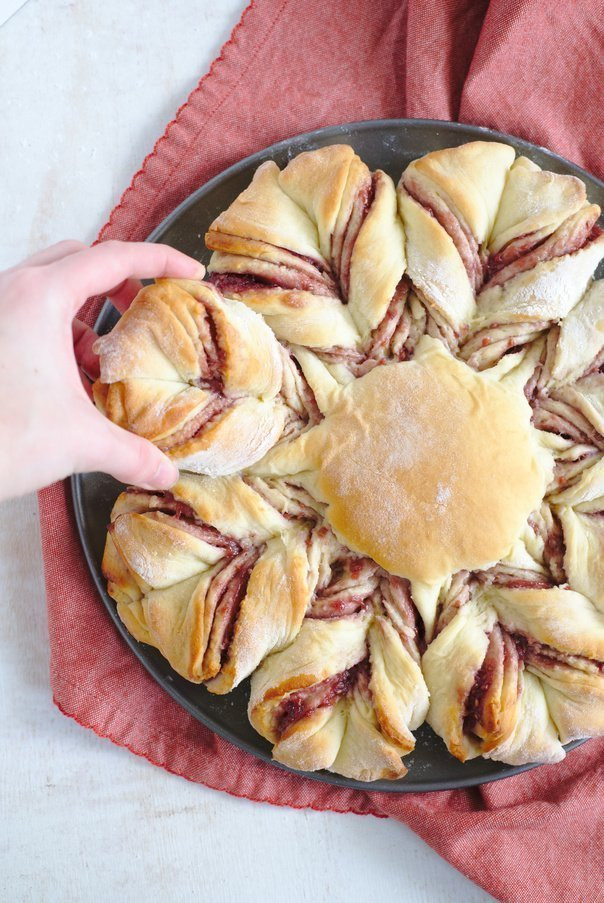 Christmas Star Bread  Christmas Raspberry Star Bread Recipe Mildly Meandering