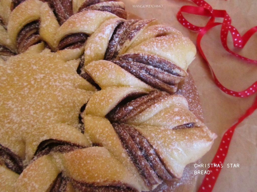 Christmas Star Bread  Christmas Star Bread Fiore brioshe con nutella Mangioridoamo