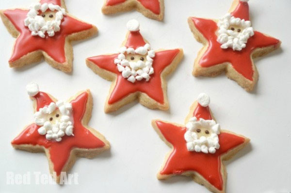 Christmas Star Cookies  25 Amazing Santa Kids Crafts to Try Right Now