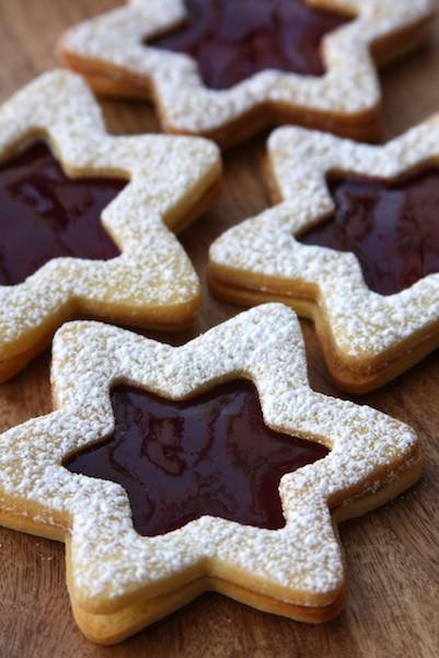 Christmas Star Cookies  Linzer Cookie Stars