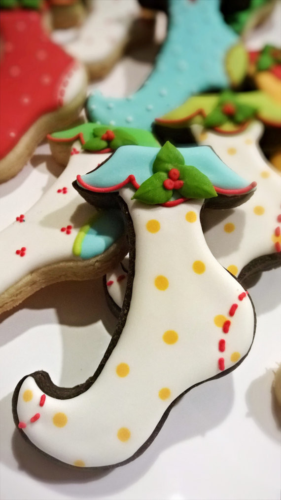 Christmas Stocking Cookies  3 Dozen Christmas Stocking Cookies