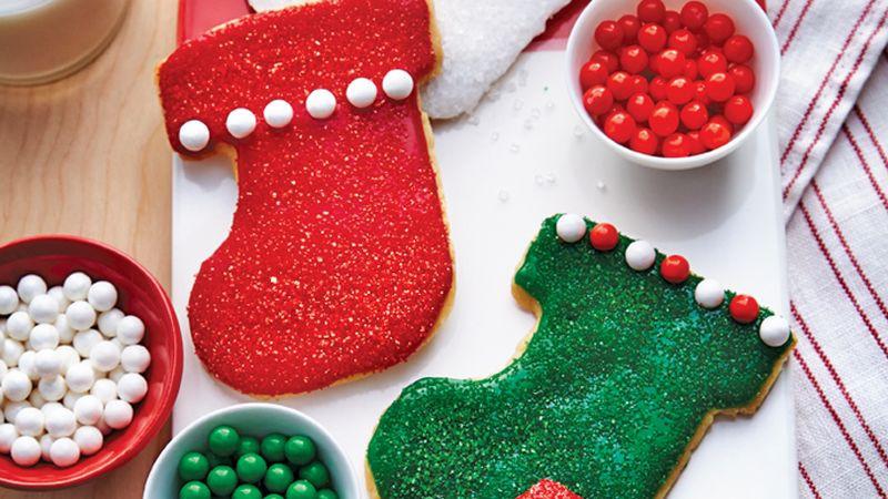 Christmas Stocking Cookies  Christmas Stocking Cookies Recipe Pillsbury