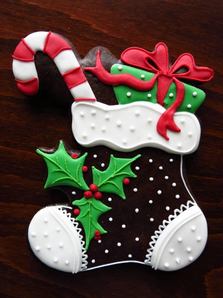 Christmas Stocking Cookies  Beautiful Christmas stocking cookie