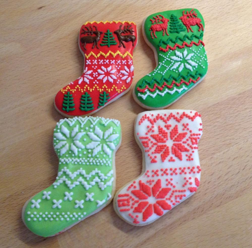 Christmas Stocking Cookies  Stockings