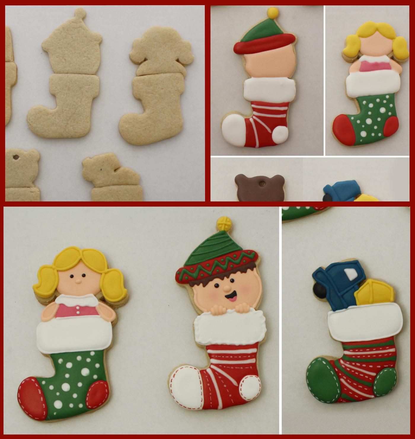 Christmas Stocking Cookies  Christmas Stocking Cookie Tutorial