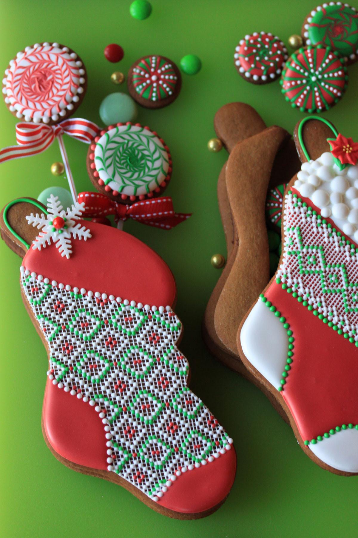 Christmas Stocking Cookies  Stuff able Stockings Julia Usher