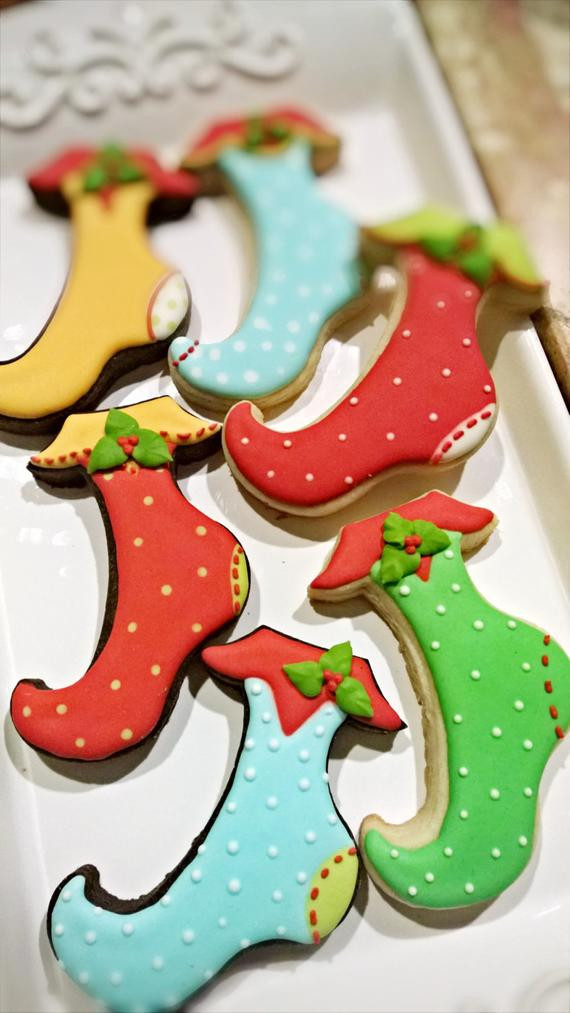 Christmas Stocking Cookies  2 Dozen Christmas Stocking Cookies
