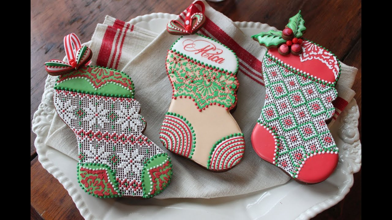 Christmas Stocking Cookies  How to Assemble 3 D Stuff able Christmas Stocking Cookies