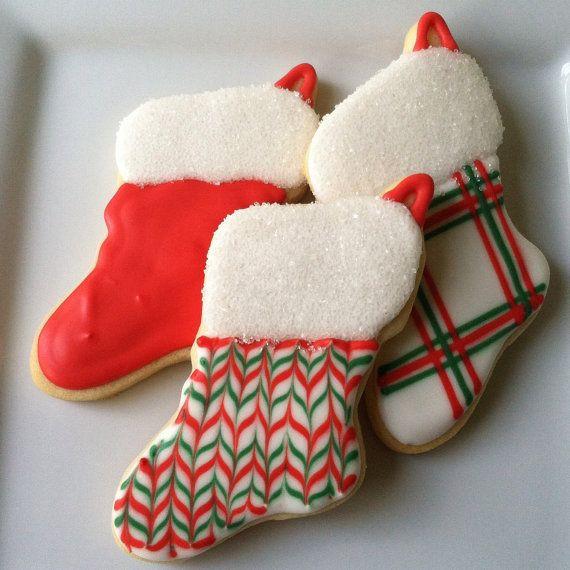 Christmas Stocking Cookies  Best 25 Christmas stocking cookies ideas on Pinterest