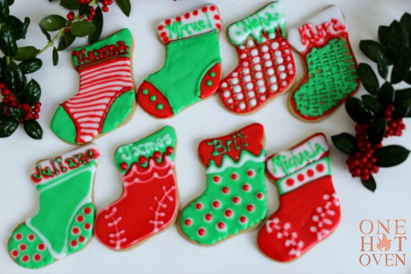 Christmas Stocking Cookies  Spice Christmas Stocking Cookies e Hot Oven