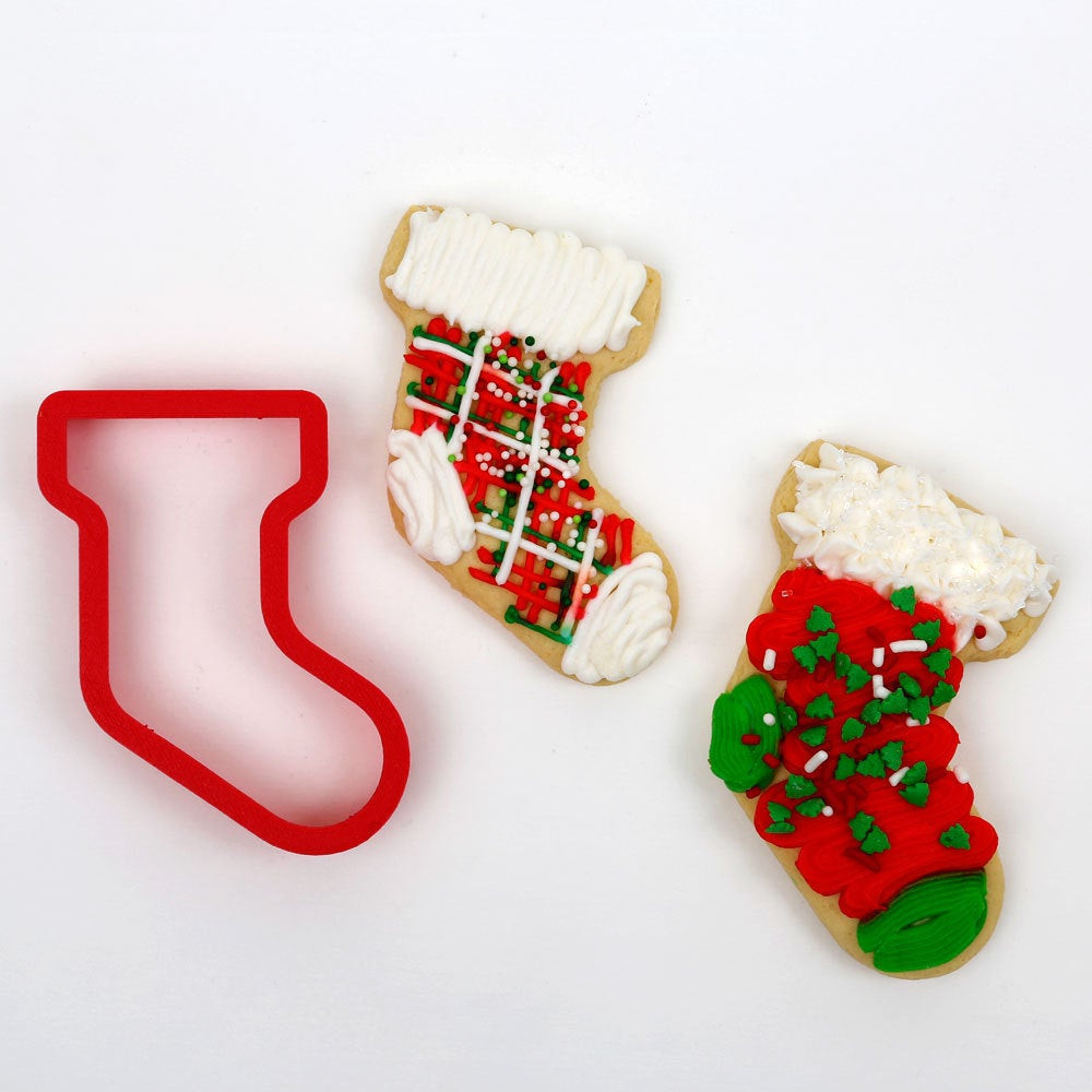 Christmas Stocking Cookies  Christmas Stocking Cookie Cutter 2 cutter set