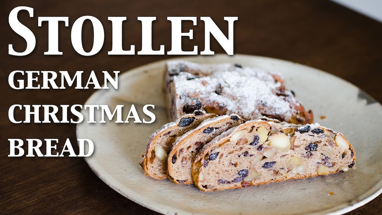 Christmas Stollen Bread  Stollen german christmas bread vegan ☆ シュトレン