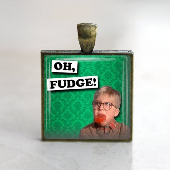 Christmas Story Oh Fudge  Items similar to Christmas Story Oh Fudge Glass Tile