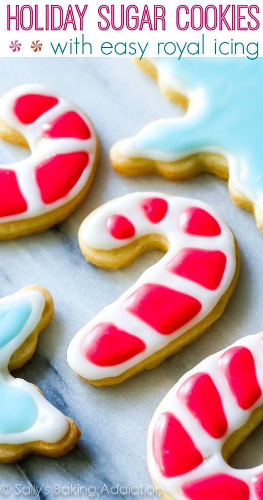 Christmas Sugar Cookies With Icing  Christmas Sugar Cookies with Easy Icing