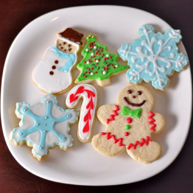 Christmas Sugar Cookies With Icing  foo Blog Archive Christmas Sugar Cookies