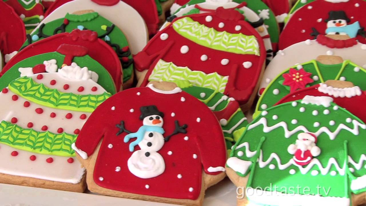 """Christmas Sweater Cookies  GoodTaste """"Tacky"""" Sweater Cookies Rule at Lily s"""