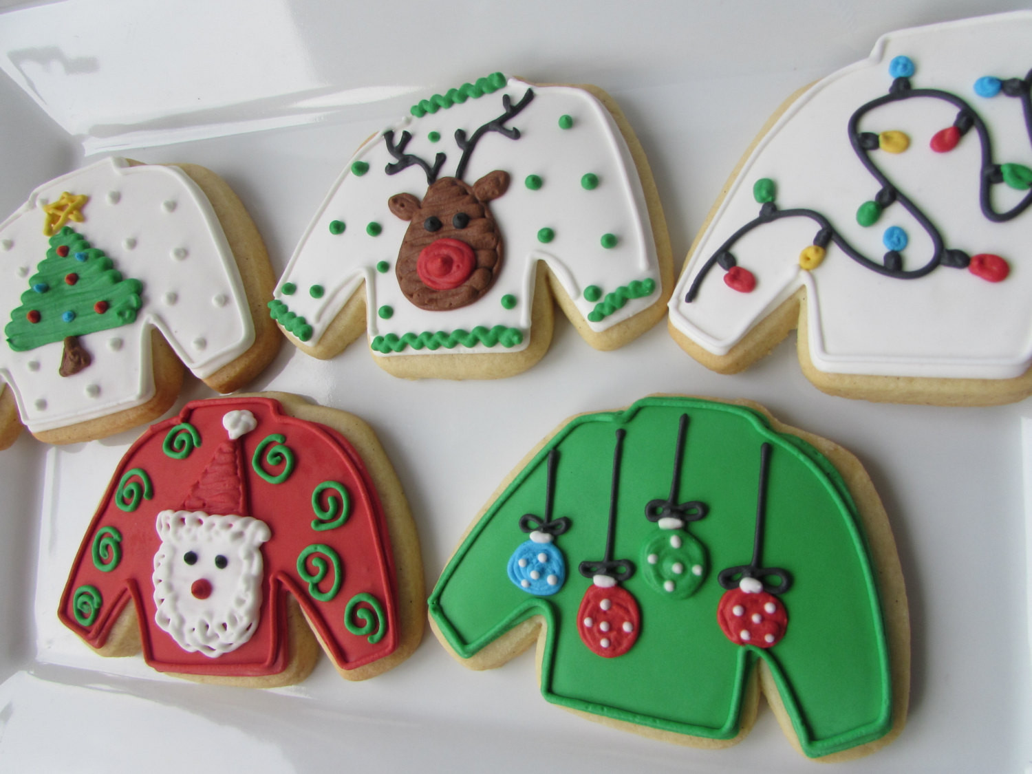 Christmas Sweater Cookies  Ugly Sweater Cookies Christmas Cookies Christmas Favors
