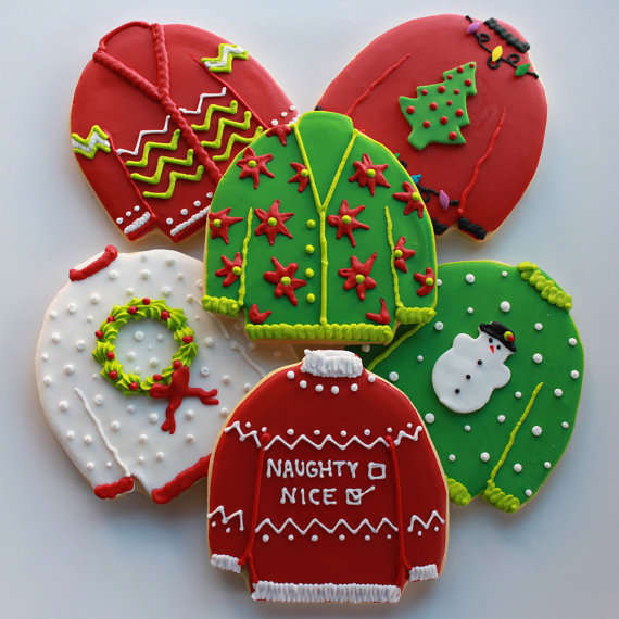 Christmas Sweater Cookies  Hideous Sweater Sweets Ugly Christmas Sweater Cookies