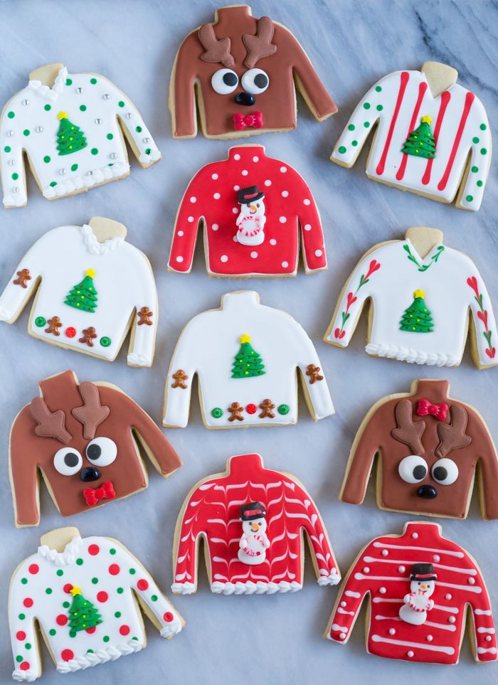 Christmas Sweater Cookies  Easy Ugly Christmas Sweater Cookies Bake at 350°