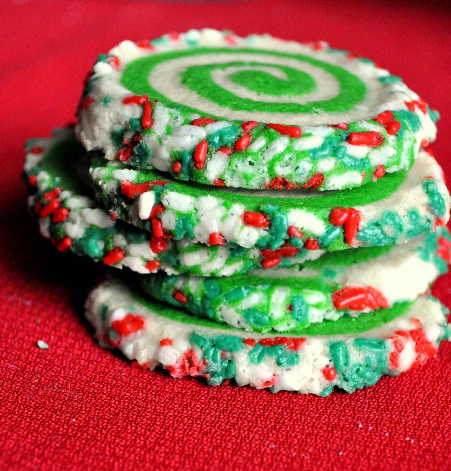 Christmas Swirl Sugar Cookies  Our Italian Kitchen Colorful Swirl Cookies