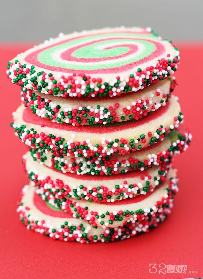 Christmas Swirl Sugar Cookies  Christmas Swirl Sugar Cookies 32 Turns32 Turns