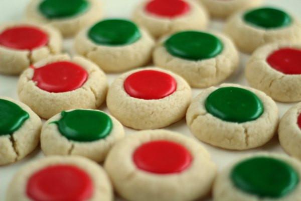 Christmas Thumbprint Cookies  Christmas Thumbprint Cookies