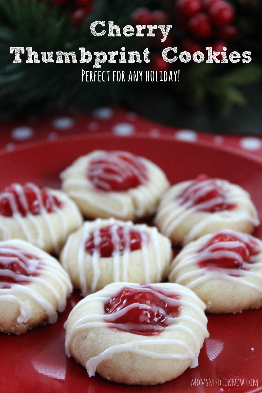 Christmas Thumbprint Cookies  Cherry Thumbprint Cookie Recipe