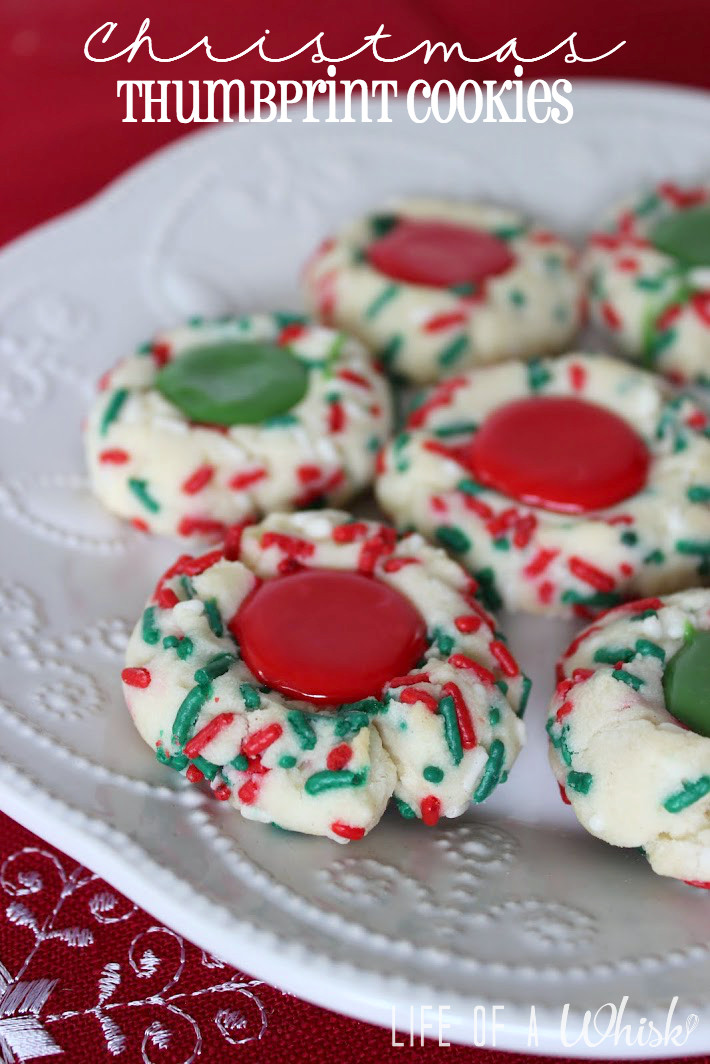 Christmas Thumbprint Cookies  Christmas Thumbprint Cookies lifeofawhisk