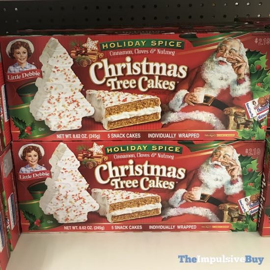 Christmas Tree Cakes Little Debbie  SPOTTED ON SHELVES Little Debbie Holiday Spice Christmas