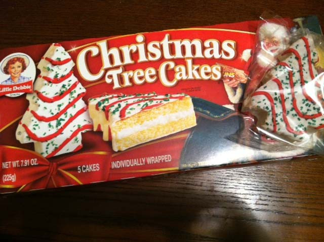 Christmas Tree Cakes Little Debbie  Pineapple Pete 1st Day of Christmas
