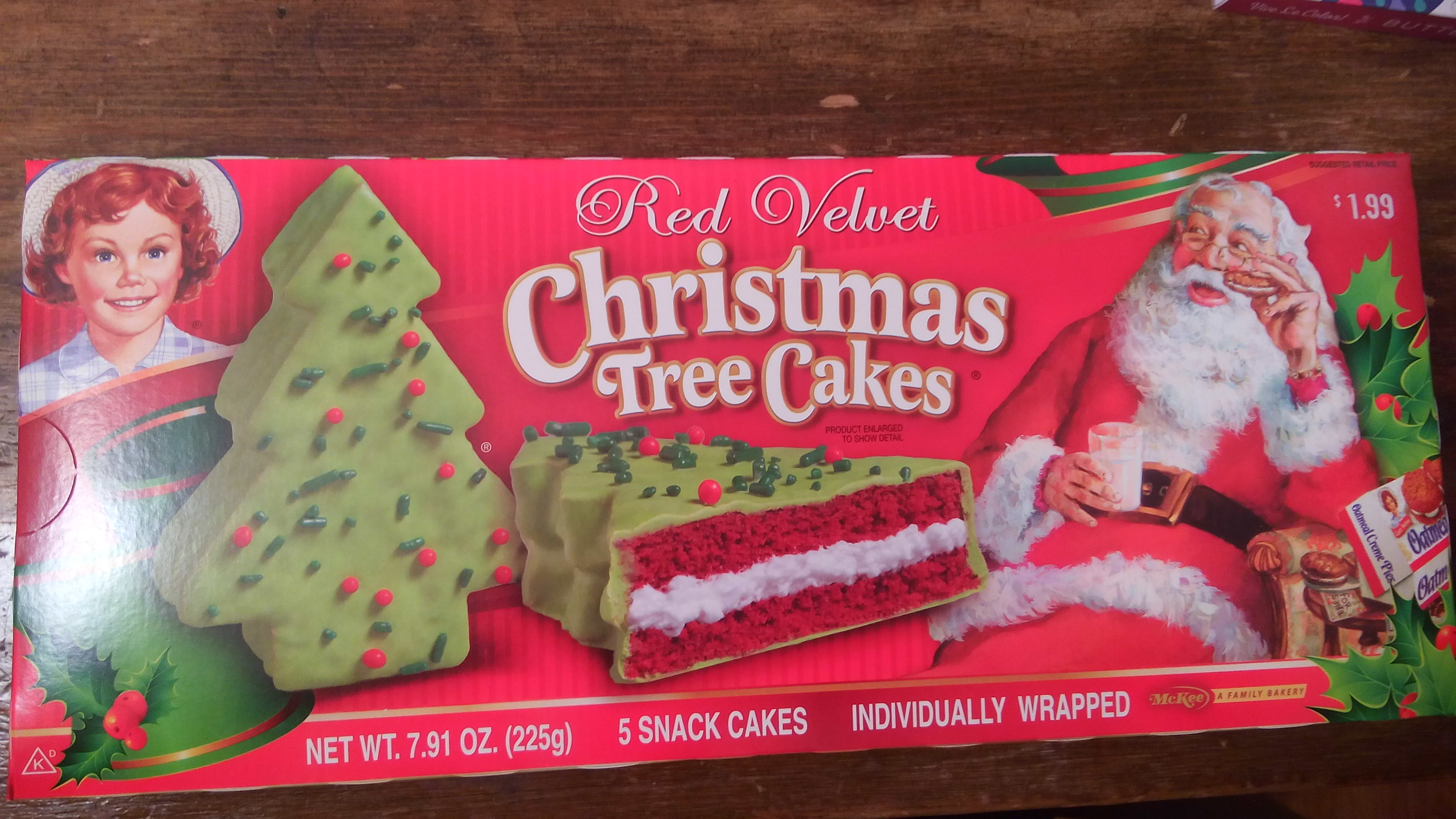 Christmas Tree Cakes Little Debbie  Little Debbie Red Velvet Christmas Tree Snack Cakes