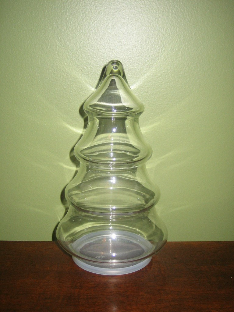 Christmas Tree Candy Jar  Vintage Christmas Tree Candy Jar by vintagewares on Etsy