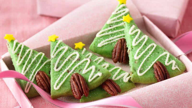 Christmas Tree Cookies Recipe  Pecan Shortbread Christmas Tree Cookies Recipe