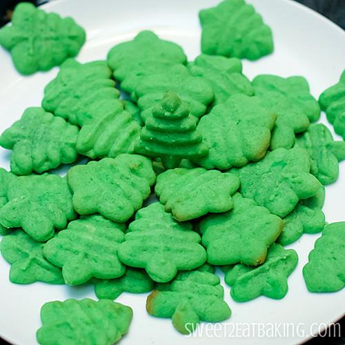 Christmas Tree Cookies Recipe  Christmas Tree Butter Cookies Cookie Press Recipe