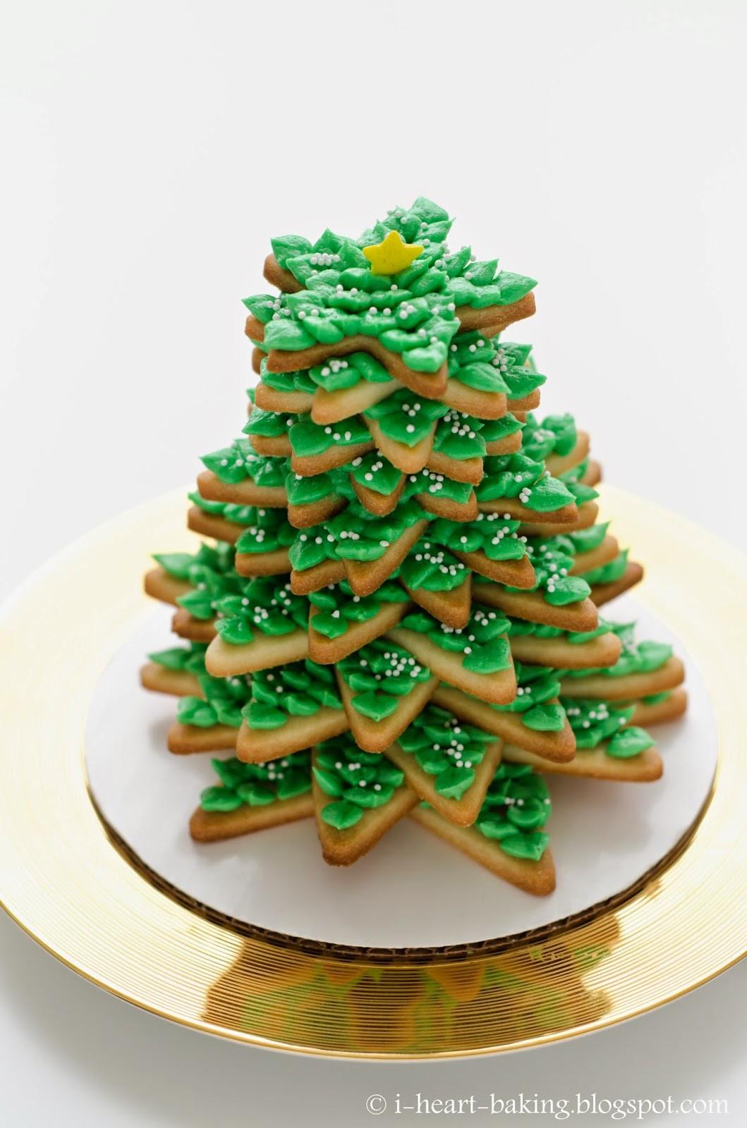 Christmas Tree Cookies Recipe  i heart baking 3D cookie christmas tree
