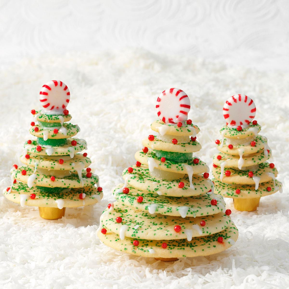 Christmas Tree Cookies Recipe  Stacked Christmas Tree Cookies Recipe