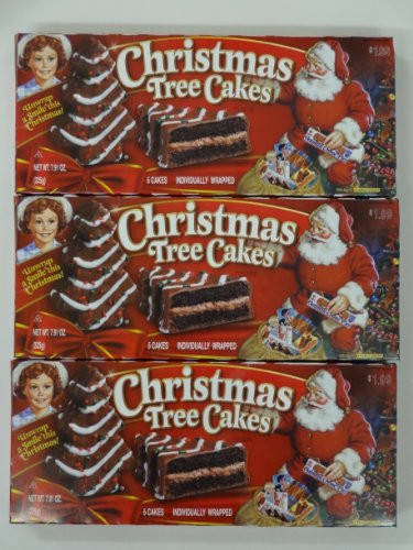 Christmas Tree Snack Cakes  Little Debbie Christmas Tree Cakes Chocolate 3 Boxes 15