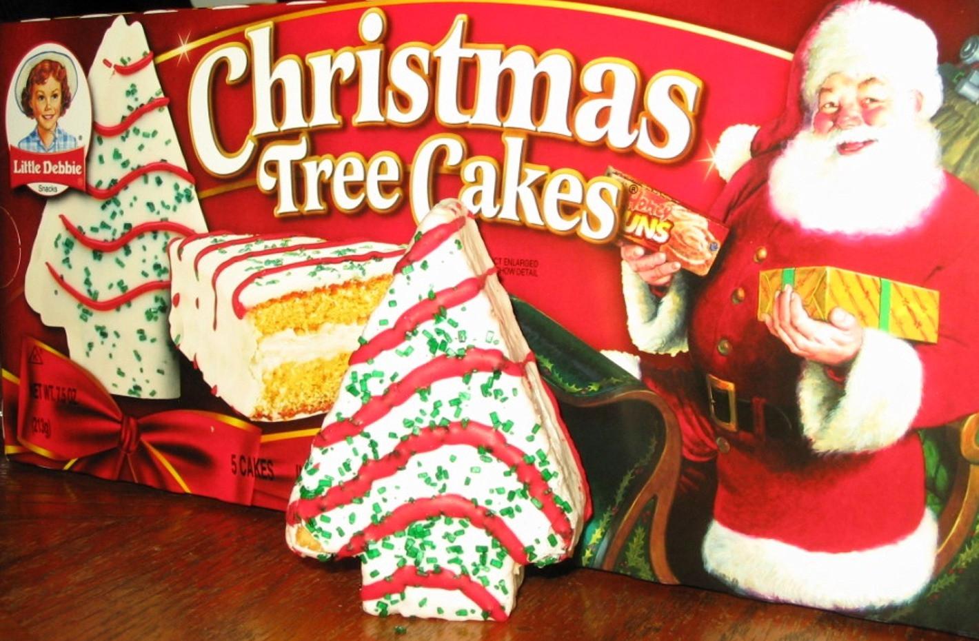 Christmas Tree Snack Cakes  The Holidaze Little Debbie Christmas Tree Cakes
